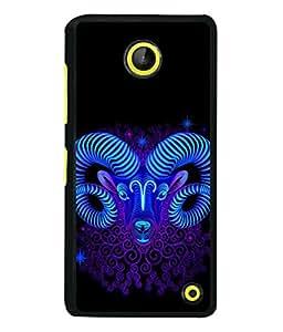 PrintVisa Designer Back Case Cover for Microsoft Lumia 630 (The Sheep In Flasy Blue Design)