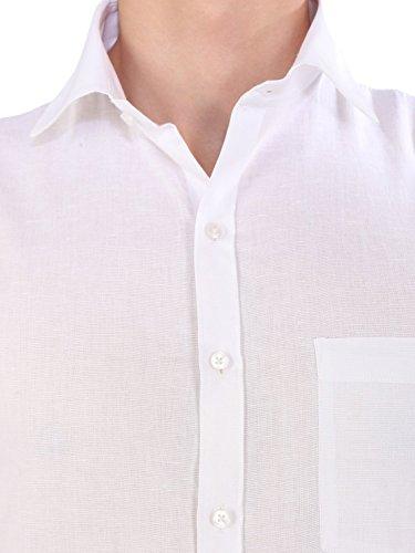 KRYPTAR Men's Cotton Polyester Blend Full Sleeve Formal Shirt (White, Medium)