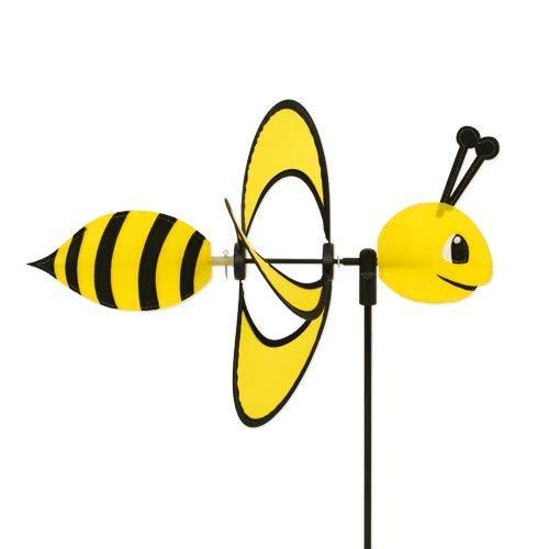 CIM Windspiel - Little Magic Bee - UV-beständig und Wetterfest - Windrad: Ø28cm, Motiv: 35x13cm, Gesamthöhe: 85cm - inkl. Fiberglasstab (Bee)