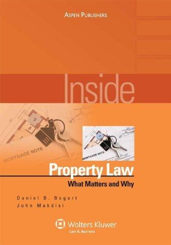 Inside Property Law: What Matters & Why (Inside Series) by Daniel B. Bogart (2009-05-20)