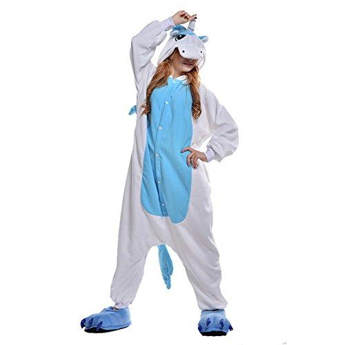 Imagen de freefisher pijama ropa de dormir costume disfraz de animal cosplay cartoon franela hombre mujer, unicornio azul, small