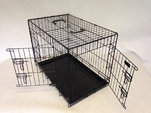 "30"" strong dog cage black powder coated by Doghealth"