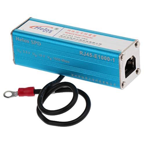 Homyl Gigabit Telefon Netzwerkgerät Blitz Überspannungsschutz Blau