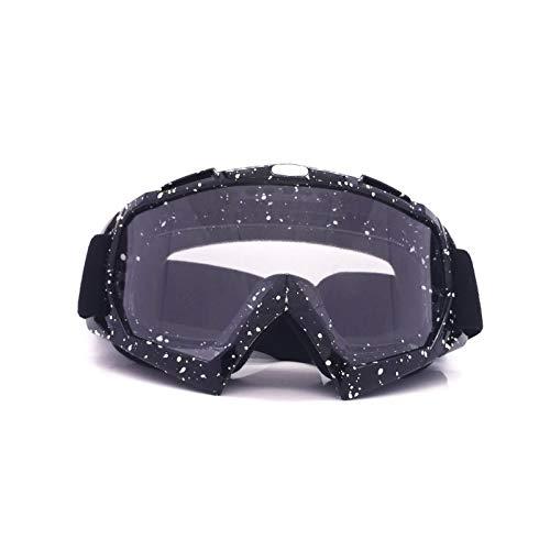 Aienid Sportsonnenbrille Fahrrad Schwarz Weiß Transparent Skibrille Winddichter Augenschutz Size:20X10CM