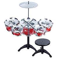 YeahiBaby Batería para niños Principiantes Tambores Juguete con Sonido Juguete Educativo de Aprendizaje Musical Instrumentos (