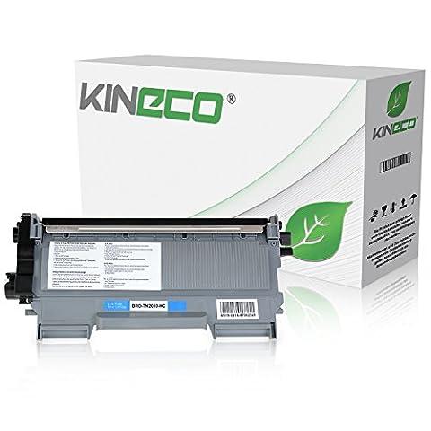 Toner kompatibel zu Brother TN2010 TN-2010 für Brother DCP-7055 W, DCP-7057, HL-2130 R, HL-2132 R, HL-2135 W, Schwarz 3.000