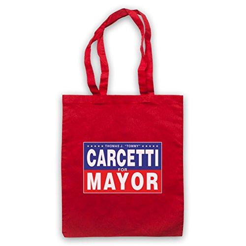Inspiriert durch The Wire Carcetti For Mayor Inoffiziell Umhangetaschen Rot