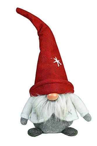 khevga Weihnachtsdeko Deko-Figur Wichtel groß rot grau