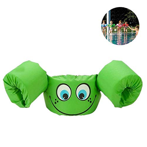 LLFFDC Schwimmflügel Puddle Jumper, für Kinder und Kleinkinder von 2-6 Jahre, 14-25kg, Schwimmhilfe für Jungen und Mädchen,Green