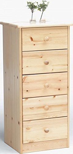 Schublade Kiefer Kommode (Erst-Holz® 90.50-05 Kommode Kiefer Natur 5 Schubladen)