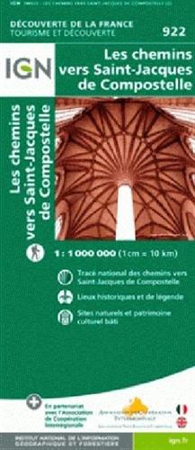 1M922 CHEMINS VERS SAINT-JACQUES DE COMPOSTELLE 1/1M