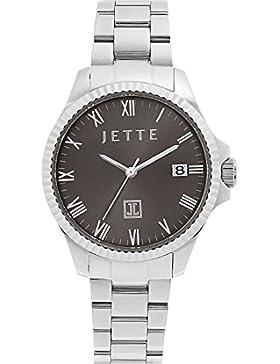 JETTE Time Damen-Armbanduhr Life-Time Edelstahl Analog Quarz One Size, grau, silber/anthrazit/grau