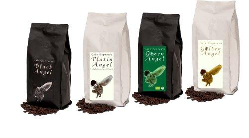 Die beliebte Espresso Angel Serie 4 x 150 g Probierpaket der besten Kaffees