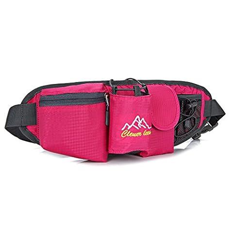 YKD Sport Running Belt Respirant et Souple Imperméable à la sueur confortable sans rebond,améliorer vos effets en toute sécurité votre exercice Pour un téléphone de moins de 6 pouces-L09Rose Rouge