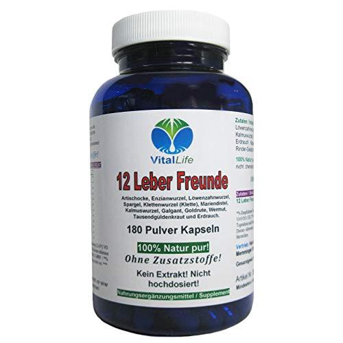 Leber & Galle 12 Leber Freunde DETOX Leberkräuter + Bitterstoffe 180 NATUR PUR Kapseln. Reinigung & Entgiftung unterstützen. 26313 -