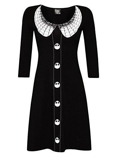 The Nightmare Before Christmas Spider Dress Kleid schwarz/weiß XS