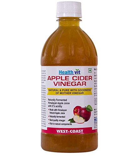 Healthvit Apple Cider Vinegar 500ml - With Mother Vinegar, Raw, Unfiltered & Undiluted