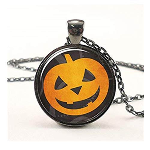 (Leonid Meteor Halskette mit Kürbis-Anhänger Halloween-Kostüm-Accessoires, Halskette, Reine Handarbeit)