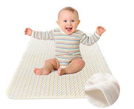 Baby Matratzenschoner Atmungsaktive Wasserdichte Matratzenauflage Wasserundurchlässig Inkontinenzauflage Waschbar Matratzenschutz 70x100 für Kinderbett von YOOFOSS
