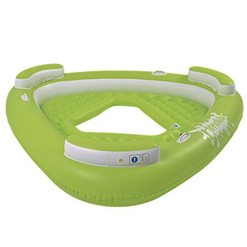 Jilong Honolulu Deluxe Lounge III 195x188x35 cm Badeinsel für 3 Personen Poolsessel mit Rückenlehne Schwimmsessel Pool Lounge Wassersofa Wassersessel Luftmatratze, Süßwasser & Salzwasser geeignet