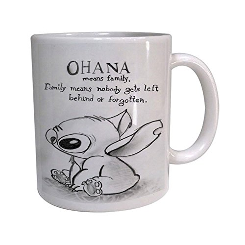 Mensuk Ohana Mean Family Disney Lilo and Stitch Coffe Mug , Custom Mug, Personalised Photo Mug, Unique Gift
