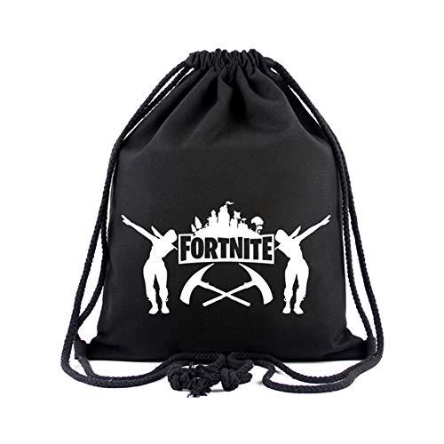 Fortnite Kordelzug, Schulrucksack Schultertasche Sport Sporttasche für Frauen Männer Kinder, Gym Wandern Reise Strandtasche (7)