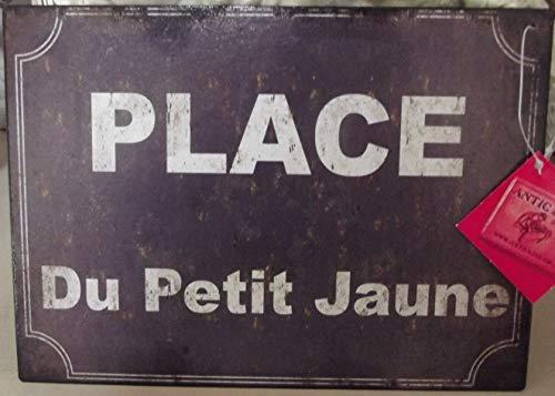 Antic Line Plaque Place du Petit Jaune 20 * 15 cm