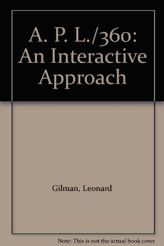 A. P. L./360: An Interactive Approach by Leonard Gilman (1971-03-01)