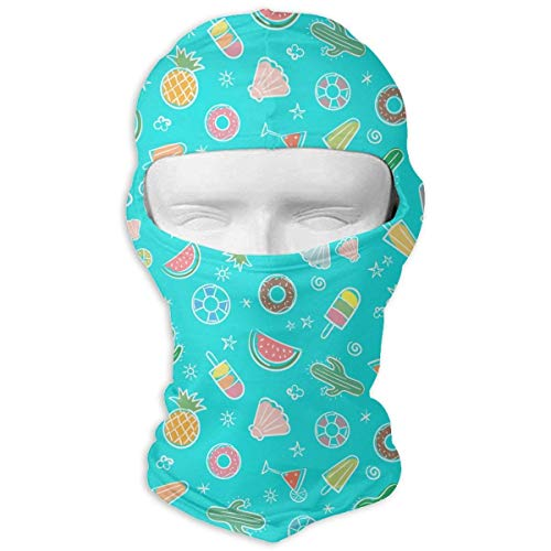 Wfispiy Full Face Mask Neck Hood Sports Mask Cute Summer with Summer Elements Men Women