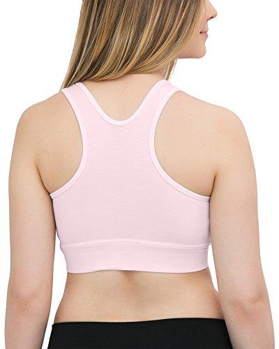 Kindred Bravely Soft French Terry Nursing Sleep Bra for Maternity / Breastfeeding Black/Pink (2-Pack)