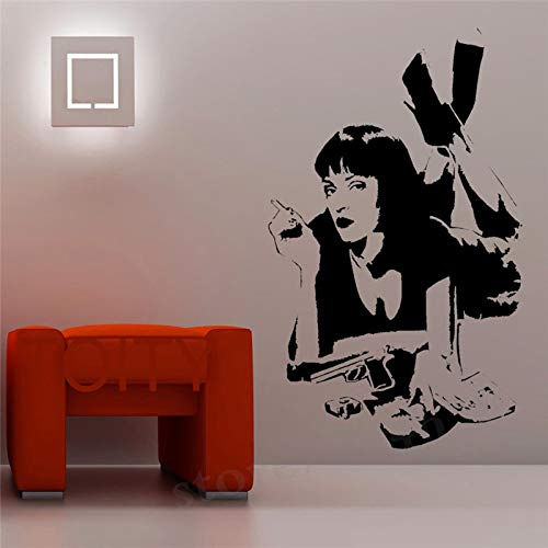 guijiumai Wand - Aufkleber - Film Pulp Fiction Vinyl Aufkleber Dorm Bar Teen Room Home Interior Kunstdekor - Wand Rosa 70x120cm Monaco Salt