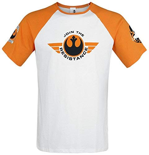 Star Wars X-Wing Pilot T-Shirt weiß/orange M