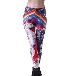 Mujer Polainas De Las Mujeres Estampado con Elástico Estampado Friends Chic Pantalones De Cintura Pantalones Deportivos Estiramiento Delgado Lápiz Pantalones Leggings (Color : 6, Size : 2XL)