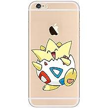 iPhone 5c Pokemon Caja de Silicona / Togepi Cubierta de Gel para Apple iPhone 5C / Protector de Pantalla y Paño / iCHOOSE