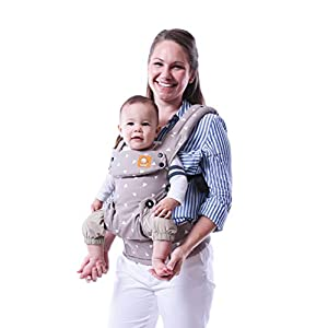 Baby Tula Explore Baby Carrier 3.2 - 20.4 kg, Adjustable Newborn to Toddler Carrier, Multiple Ergonomic Positions, Front/Back Carry, Easy-to-Use, Lightweight - Sleepy Dust, Grey with White Triangles   10