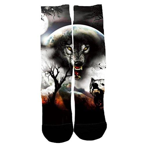 dikewang NEU und hohe Qualität Herren Frauen Casual Low Cut Ankle Socks Animal Print 3D Harajuku Stil Ankle Socken, a, M (Zehen-socken Animal-print)