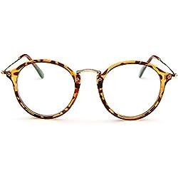 Forepin® Dame Mädchen klare Linse Brille Augen Durchsichtig Gläser Wechselgläser Sonnenbrille Brillenfassungen