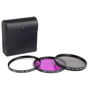 Ensemble de 3 filtres Zeikos diamètre 82mm pour appareil photo numérique : UV, Polarisant circulaire et FL-D Fluorescent