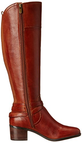 Marc Fisher Kacee Rund Leder Mode-Knie hoch Stiefel Dark Brown
