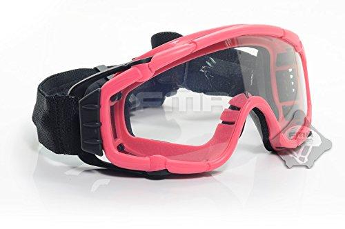 Ventilator Fassung Cooler Brille SI-Ballistic Schutz Schutzbrillen für Bike Radfahren Fahren Taktisch Paintball Airsoft Ski Snowboard 3 Farben (Schwarz, DE, Pink) Test