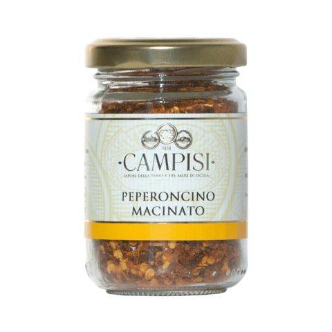 Peperoncino Macinato - getrocknete Chili Flocken aus Sizilien 50gr (Getrocknete Tomaten Pulver)