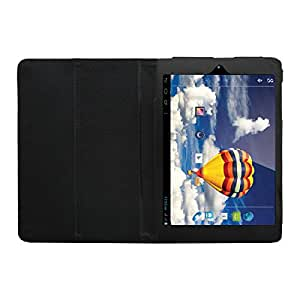 Acm EXE00004 Executive Leather Flip Case For Iball Slide 3g 7803 Q900 Tablet Front & Back Flap Cover Stand Holder,(Black)