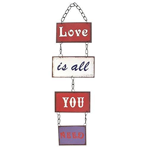 JonesHome&Gift Quelque Chose de différent en Gros l'amour est Tout ce Dont Vous Avez Besoin Plaque, Multicolore
