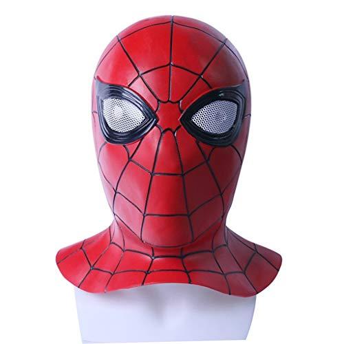 Mad Kostüm Hut - Yujingc Spider-Man-Maske Kopfbedeckung Avengers Cos Alliance 3 Unendlicher Krieg Halloween-Requisiten Vollkopf-Latex-Gesichtsmasken Kostümzubehör,Red2,53cm