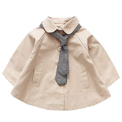 cinnamou Baby Mädchen Plaid Tie Jacket Oberbekleidung Tops Freizeitkleidung Mantel