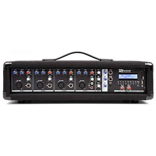 Power Dynamics PDM-C405A 4-Kanal-Mixer mit Verstärker, USB-und SD-Slot