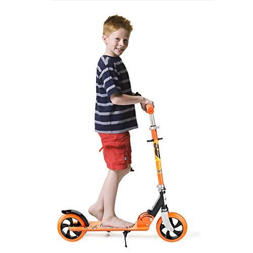 Scooter per bambini, kickboard, monopattino pieghevole a 2 ruote con altezza regolabile, adatto per bambini 3-12 anni, arancione