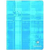 ClaireFontaine - 637551AMZ - Cahier Piqué 48 Pages 17x22 cm Grands Carreaux Couleurs Assorties - Lot de 5