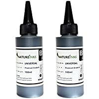 200ml Universal Premium Black Ink Bottles to Refill empty Epson Canon Brother HP cartridge