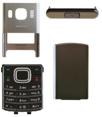 Mobilexclusive Nokia 6500 Classic Brown Bronze Cover, Oberschale, Handyschale + Tastatur Komplett 4 Teilig